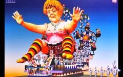 Carnevale di Viareggio: la Merkel partorisce tanti ... Renzini. Ma c'è poco da ridere: senza soldi annullate le feste in Darsena e Marco Pol...