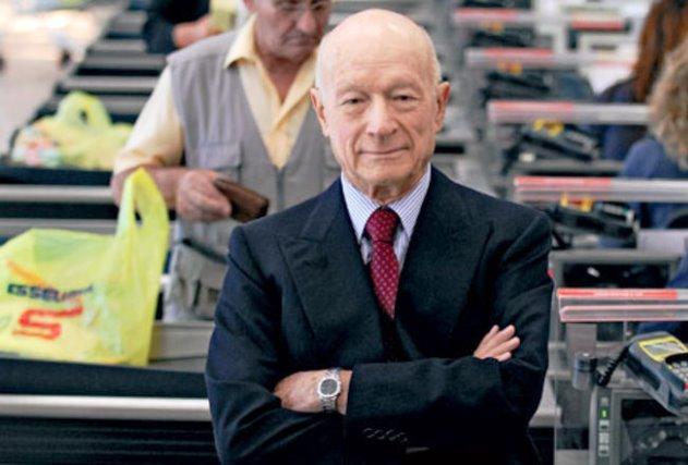 Il patron di Esselunga, Bernardo Caprotti: lunedì i funerali. In mattinata i suoi supermercati resteranno chiusi per lutto