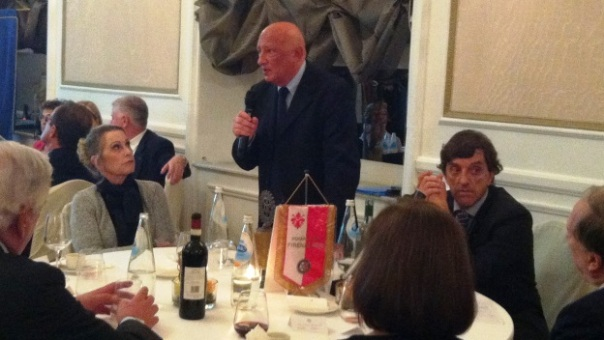 Sandro Bennucci alla serata Rotary del Westin Excelsior