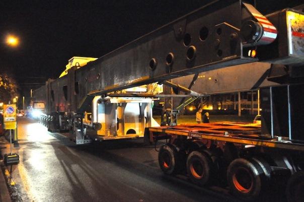 Il trasporto eccezionale della turbina destinata al Nuovo Pignone 2