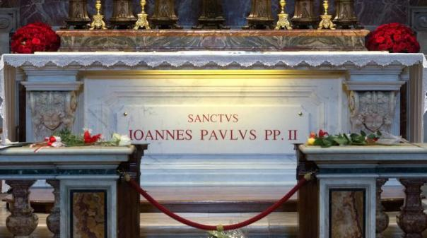 La tomba di Giovanni Paolo II