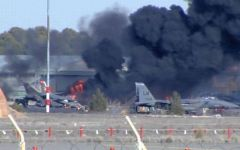 Spagna, precipita un F16 greco: 10 morti. Tra i feriti 9 militari italiani