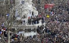 Charlie hebdo, marcia di Parigi: più di un milione di persone in corteo. Con tanti capi di stato e di governo