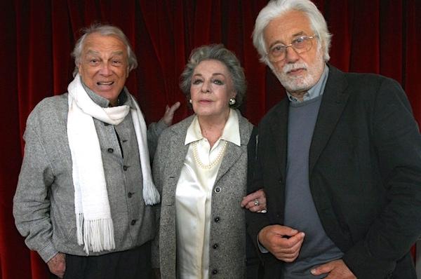 Luca Ronconi (a destra) con Anna Proclemer e Giorgio Albertazzi