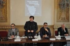 da siinistra il professor Marcio Bellandi, il consigliere regionale Gian Luca Lazzeri, l0'assessore regionale Gianfranco Simoncini, il giornalista Piero Meucci