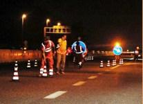 Lavori notturni in autostrada