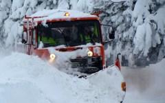 Firenze, neve sui passi dell'Appennino: Consuma, Passo della Colla, Alpe di Casaglia