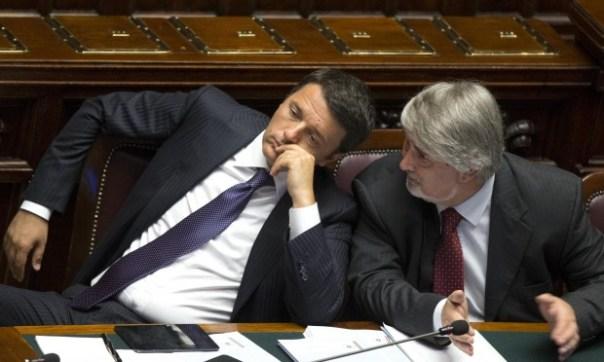 Matteo Renzi con il ministro Giuliano Poletti