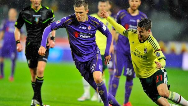 Ilicic in azione: contro il Cesena giocherà in tandem con Gilardino