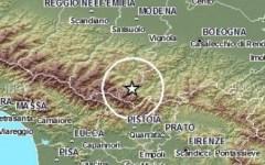 Appennino pistoiese: terremoto di 2,8 gradi tra Porretta e San Marcello