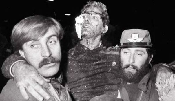Rapido 904 Napoli-Milano del 23 dicembre 1984: un ferito soccorso subito dopo la strage