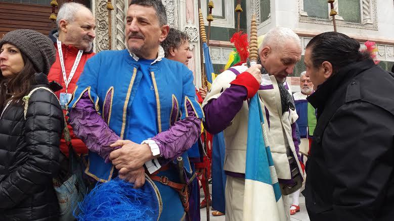 Spiridione Bassi (Azzurri) e Di Puccio (Bianchi)
