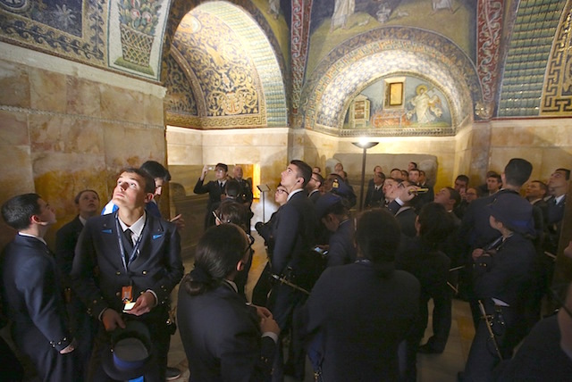 La visita ai mosaici
