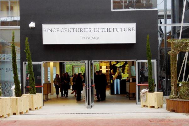 Expo, padiglione Italia, l'ingresso dello spazio dedicato alla Toscana