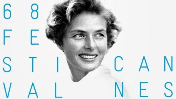 Il manifesto dell'edizione 2015 del Festival di Cannes, dedicato a Ingrid Bergman