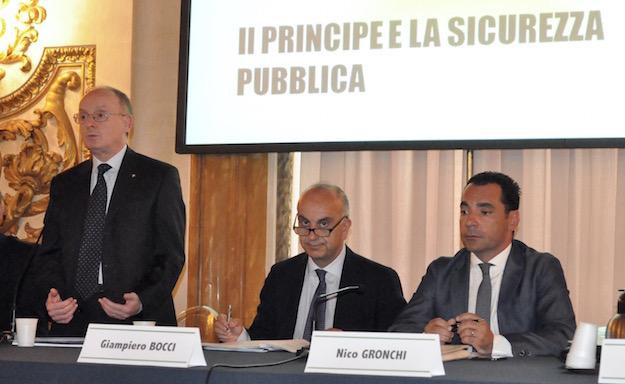 da sin. Carlo Corbinelli, Giampiero Bocci e Nico Gronchi
