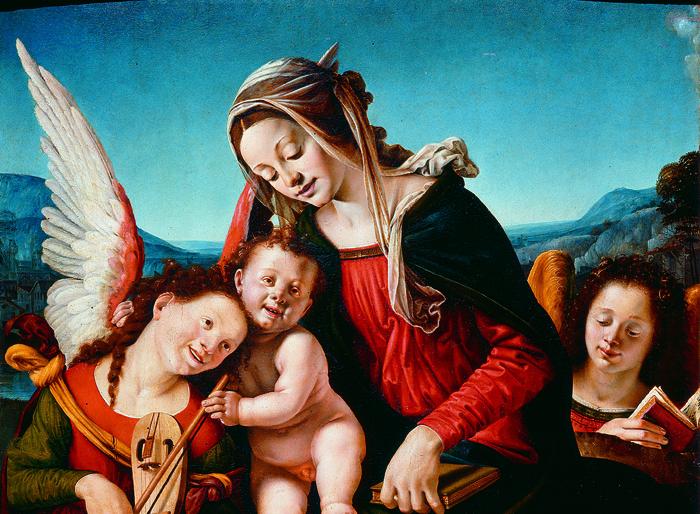 Madonna col Bambino e due angeli, 1505-1507 circa, Tavola, Venezia, Fondazione Giorgio Cini,Galleria di Palazzo Cini.