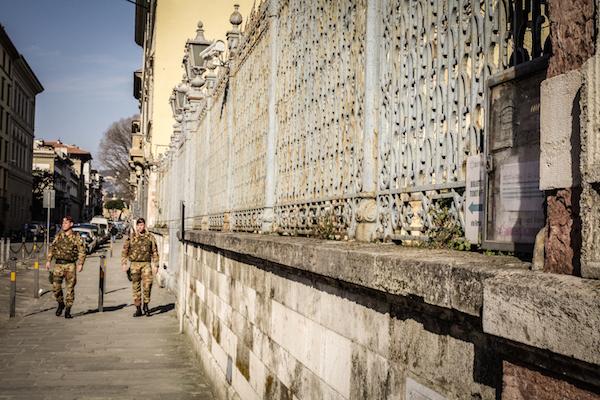 Operazione Strade sicure intorno alla Sinagoga di Firenze