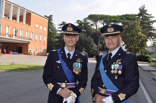 Da sin. il colonnello Buccolo e il colonnello Icardi