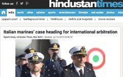 Marò: «L'India non può evitare l'arbitrato internazionale chiesto dall'Italia»