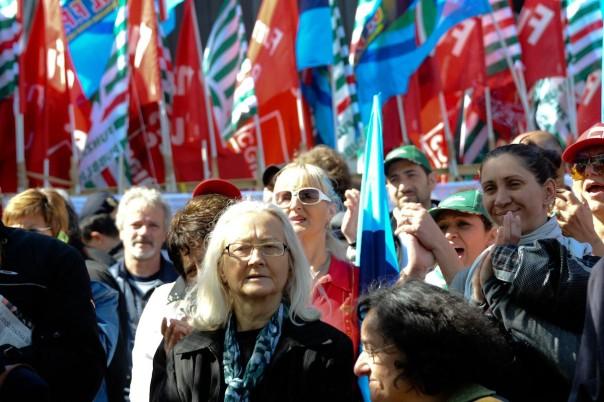 manifestazione dei sindacati
