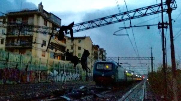 Il nubifragio ha causato l'interruzione della linea ferroviaria Firenze_Roma