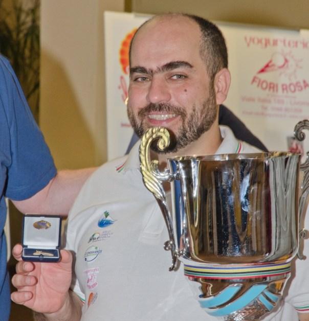 Il livornese Michele Borghetti, campione mondiale in carica di dama inglese