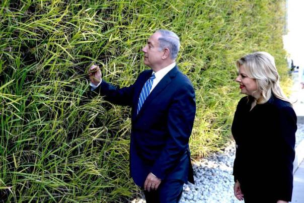 Netanyahu e la moglie