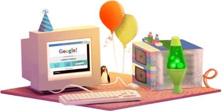 Il doodle per 17° compleanno di Google