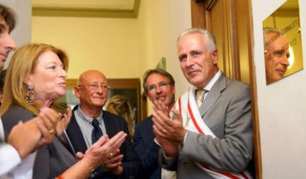 Consiglio regionale toscano, l'inaugurazione della Sala Stampa Oriana Fallaci