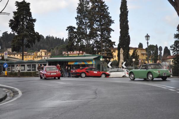 Gruppo di auto storiche alla Firenze - Fiesole