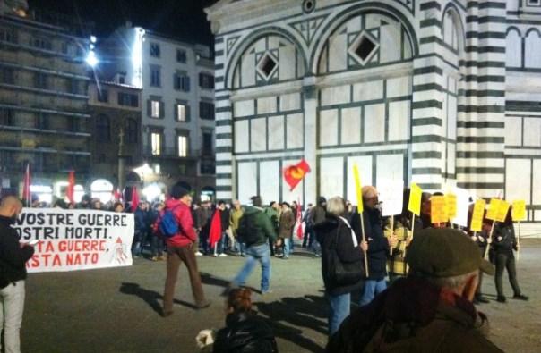Firenze, manifestazione contro il vertice Nato