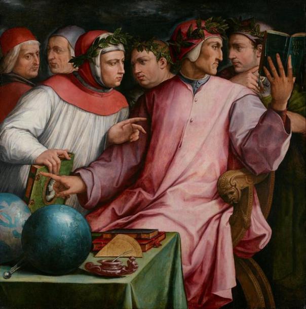 """Giorgio Vasari, """"Ritratto di sei poeti toscani"""", 1544"""