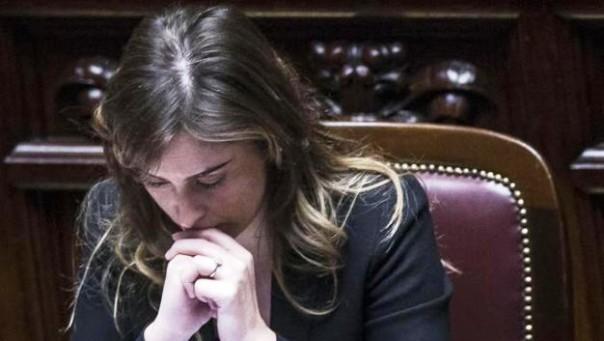 Maria Elena Boschi alla Camera dei Deputati