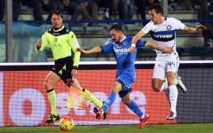 L'Inter vince a Empoli (0-1). Ma l'arbitro nega due rigori agli azzurri. Pagelle