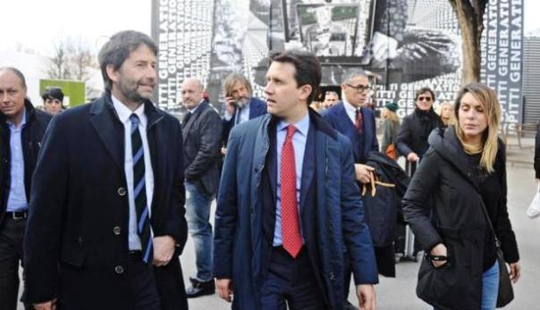 Pitti Uomo, il ministro Dario Franceschini col sindaco Dario Nardella