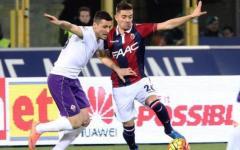 Fiorentina in dieci (espulso Mati), solo pari a Bologna: 1-1. Gol di Bernardeschi e Giaccherini. Pagelle (Foto)