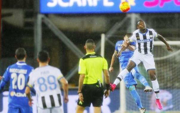 Empoli-Udinese, un'azione di gara