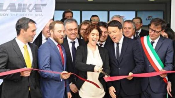 Firenze, il premier Matteo Renzi inaugura lo stabilineto Laika a San Casciano Val di Pesa