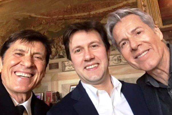 Morandi, Nardella e Baglioni (foto Twitter - @DarioNardella)