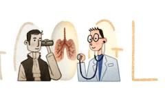 Il doodle di Google, oggi 17 febbraio, dedicato al dottor Laennec: inventò lo stetoscopio