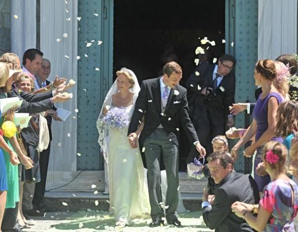 La principessa olandese la principessa Carolina de Borbon Parma e Albert Brenninkmeijer sposi a San Miniato al Monte