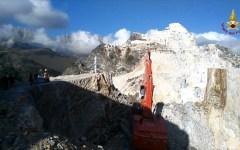 Carrara: ritrovato il corpo senza vita di uno dei due cavatori. Continuano le ricerche del secondo