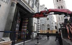 Firenze, Battistero: restauro della terza porta, quella sud. Il 15 e 16 aprile il trasporto all'Opificio delle Pietre dure