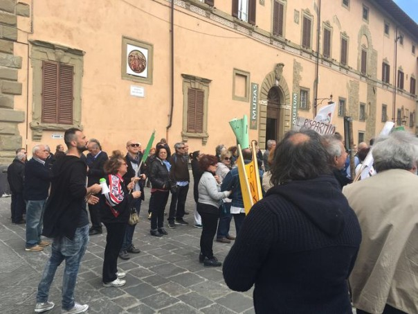 Banca Etruria, manifestazione ad Arezzo