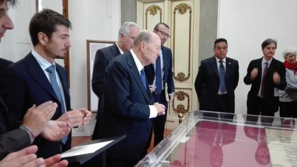 Presidente Consulta inaugura restauro 'Bandiera Curtatone'