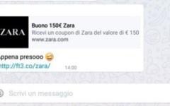 Informatica: sconti su WhatsApp, attenti alle truffe. Annuncio falsamente attribuito a Zara