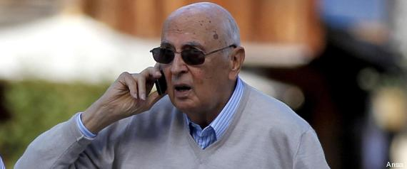 Giorgio Napolitano during his holidays