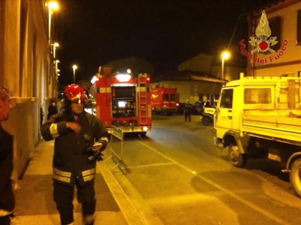 vigili fuoco fuga gas