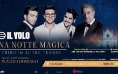 Firenze: per Il Volo «Una notte magica» in Piazza Santa Croce con Placido Domingo